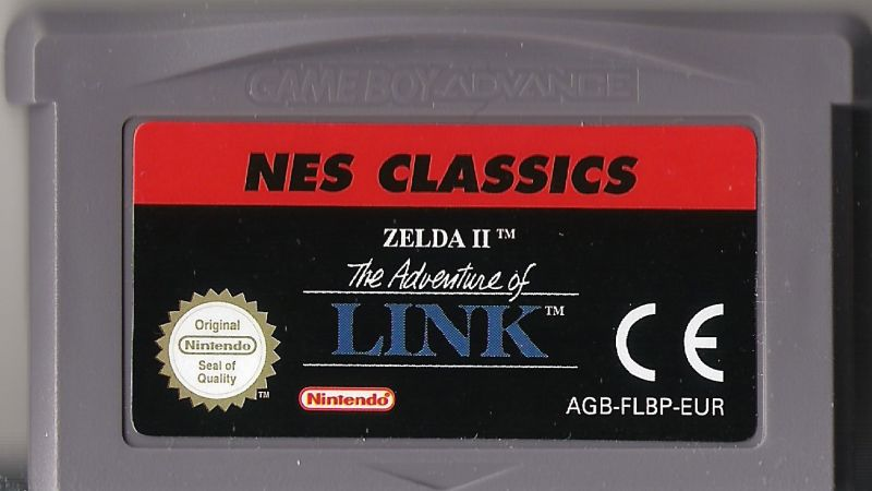 Zelda II: The Adventure of Link Game Boy Advance Media