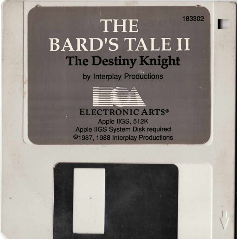 The Bard's Tale II: The Destiny Knight Apple IIgs Media