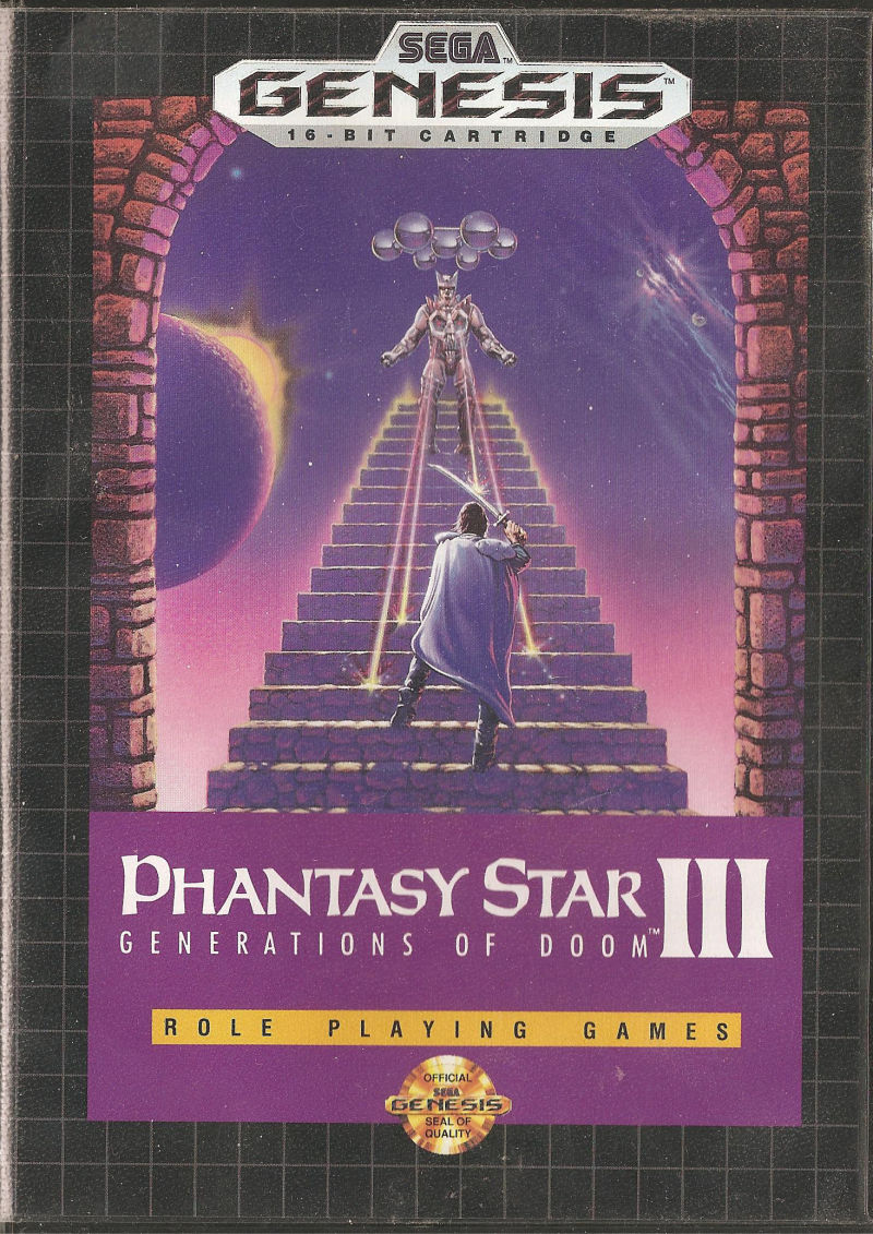 Phantasy Star III: Generations of Doom Genesis Front Cover