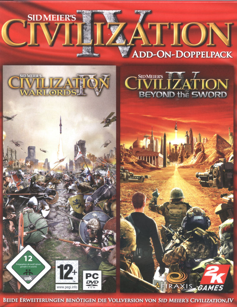 Sid Meier's Civilization IV Add-On-Doppelpack Windows Front Cover