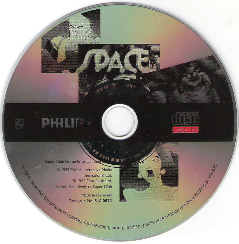 Space Ace CD-i Media