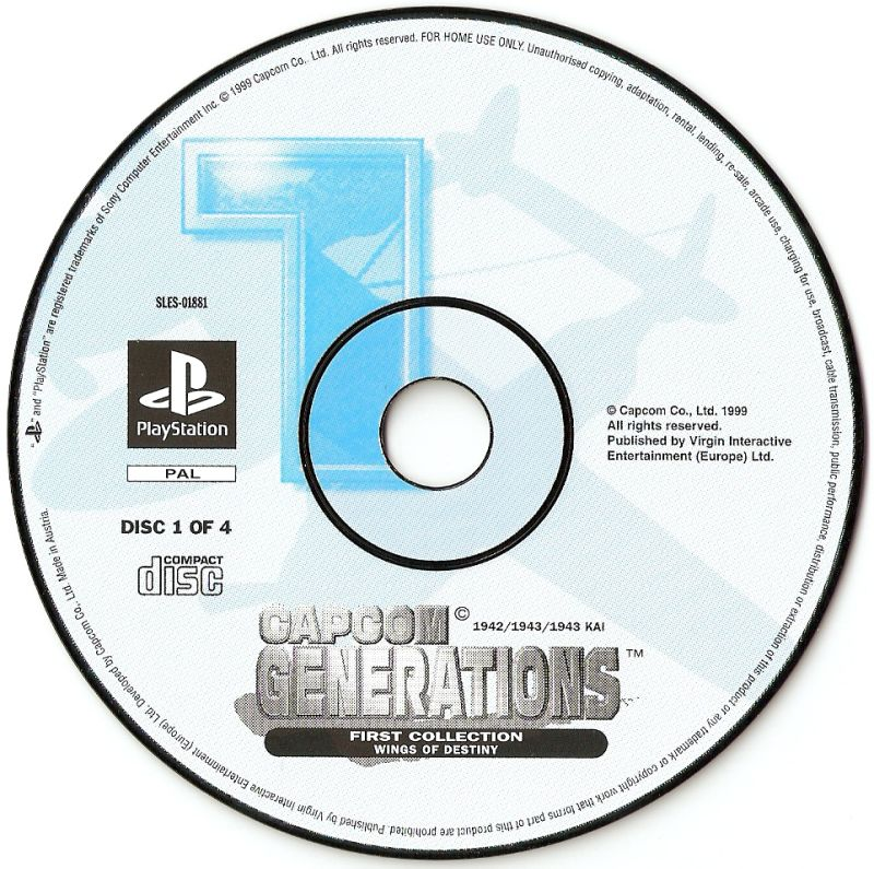 Capcom Generations PlayStation Media Disc 1 - Wings of Destiny