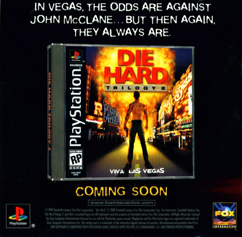Die Hard Trilogy PlayStation Inside Cover Left Inlay