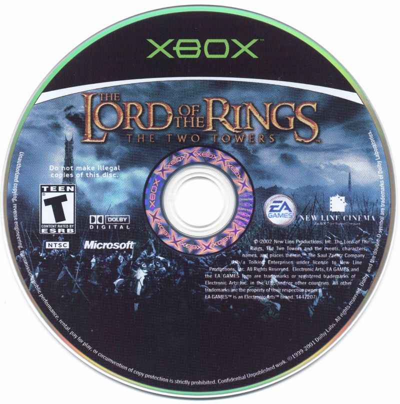 The Lord of the Rings: The Two Towers Xbox Media