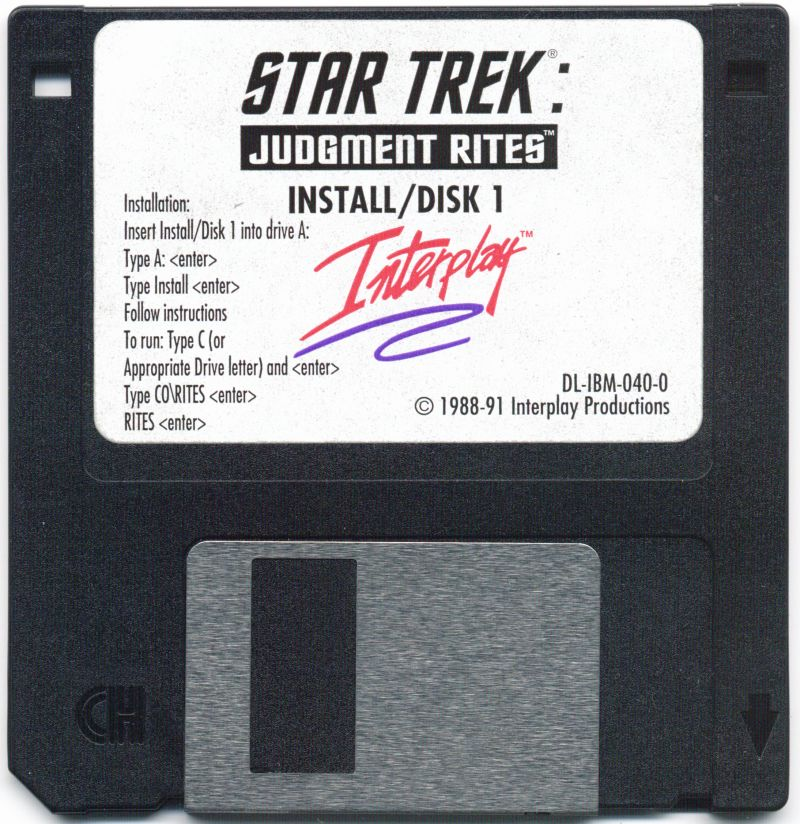 Star Trek: Judgment Rites DOS Media Disk 1/11
