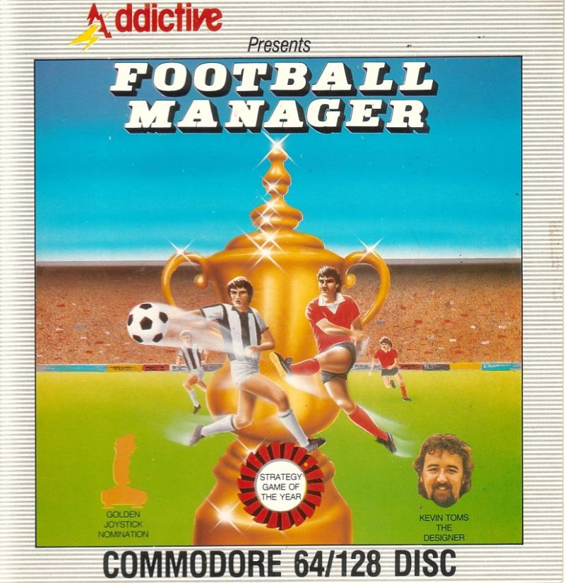Football Manager Commodore 64 Front Cover