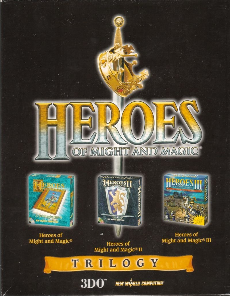 Heroes of Might and Magic Trilogy Windows Front Cover