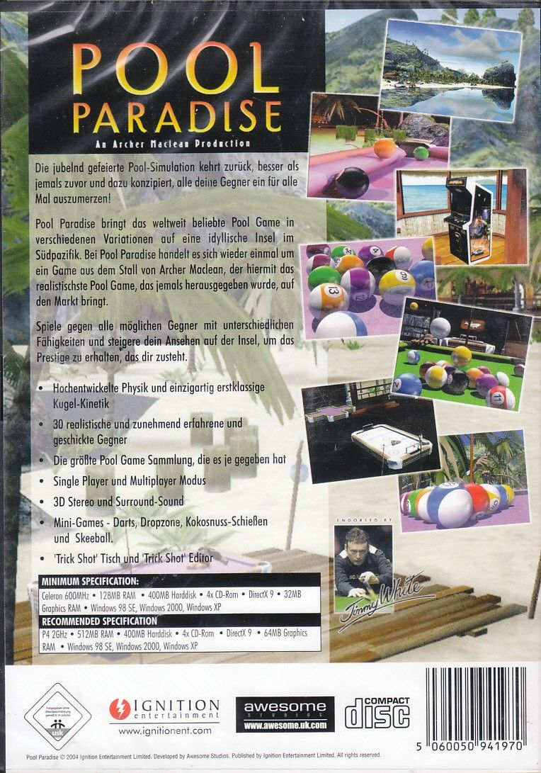 Archer Maclean Presents Pool Paradise Windows Back Cover