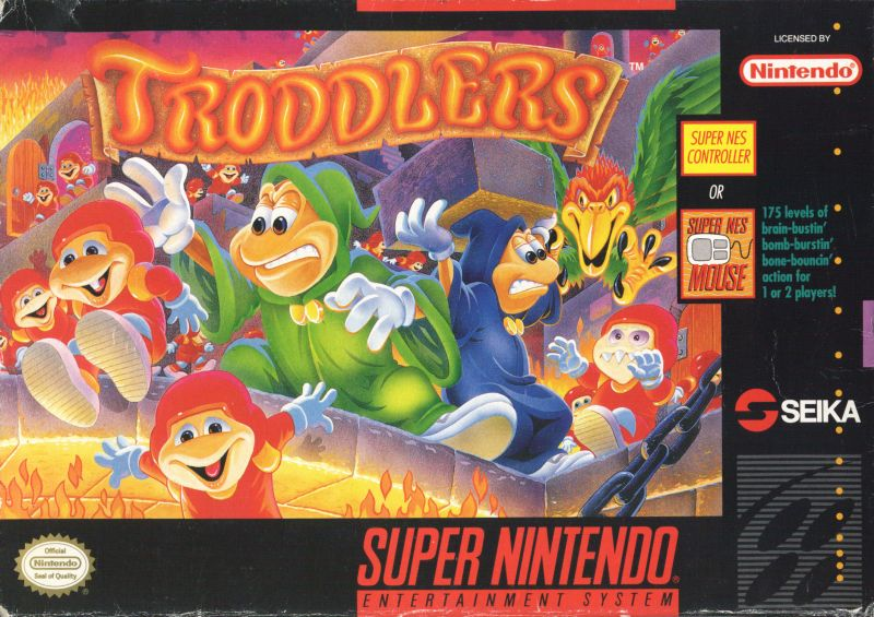 Troddlers SNES Front Cover