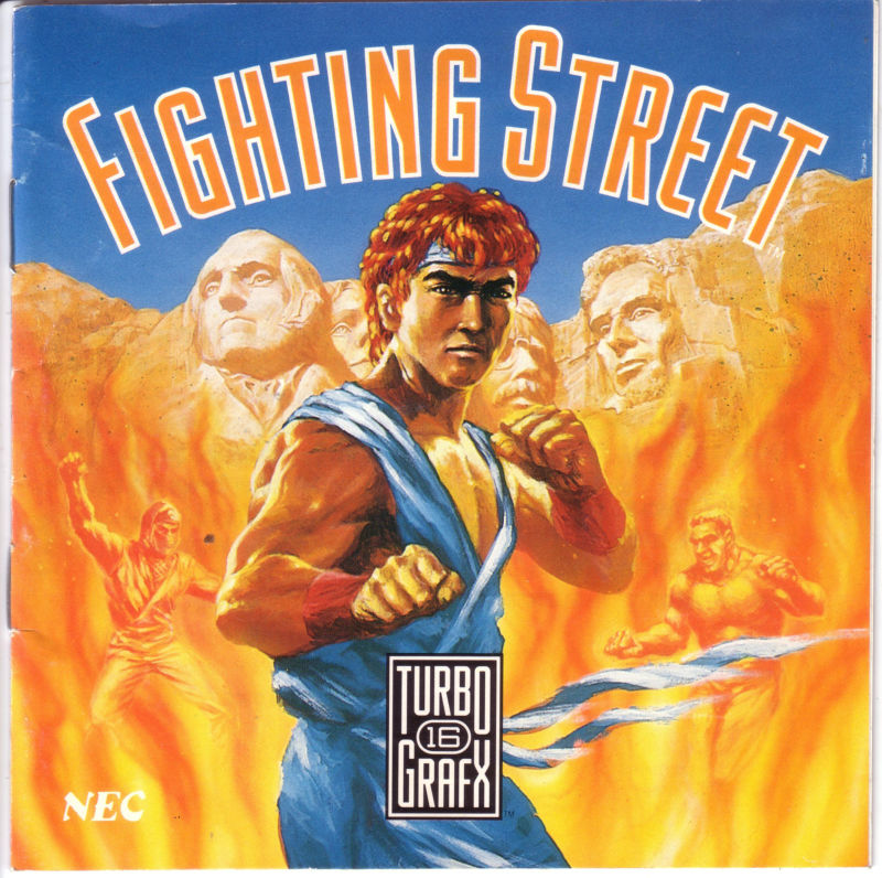 Street Fighter TurboGrafx CD Front Cover