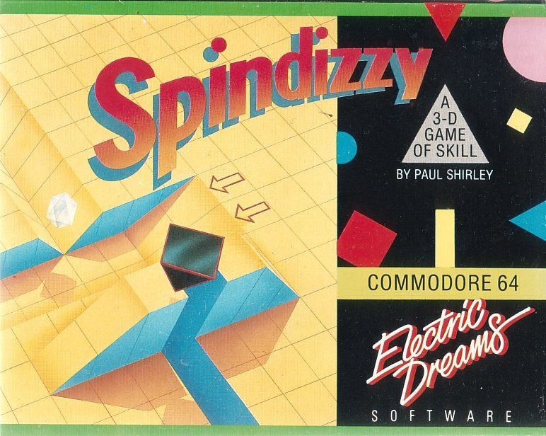 Spindizzy Commodore 64 Front Cover