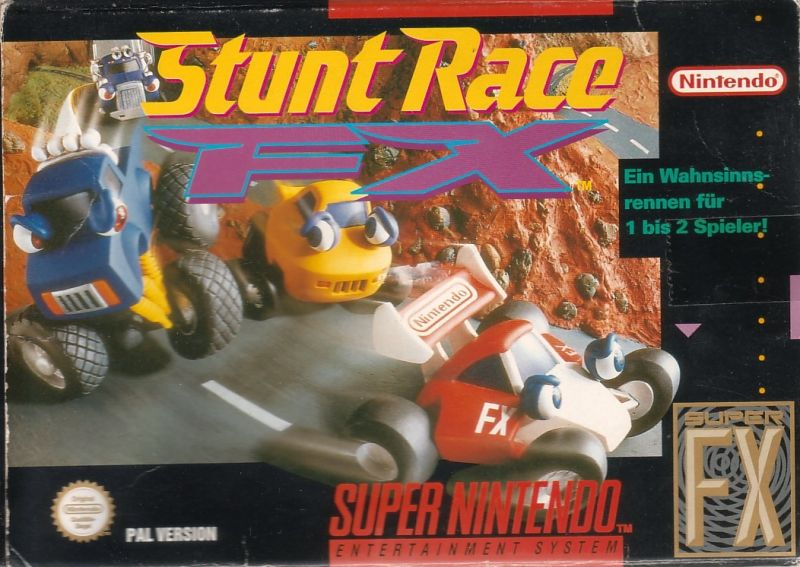 Stunt Race FX SNES Front Cover