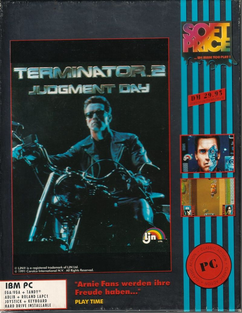 Terminator 2: Judgment Day DOS Front Cover