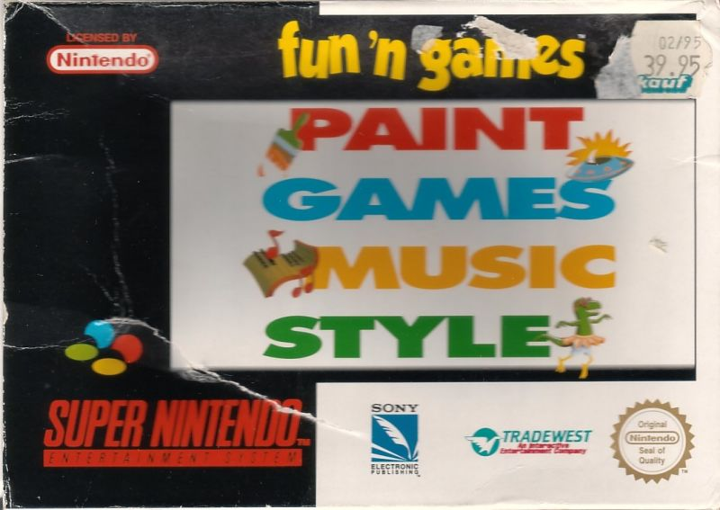 Fun 'N Games SNES Front Cover