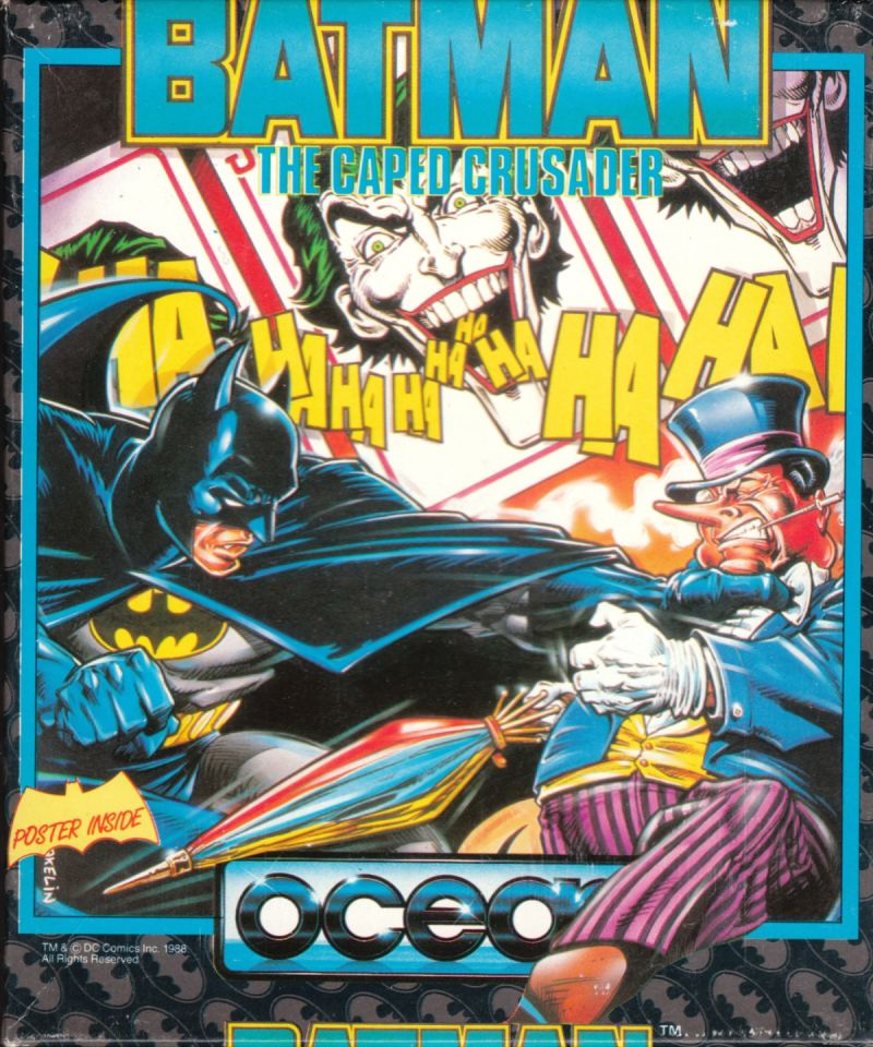 Batman: The Caped Crusader Commodore 64 Front Cover