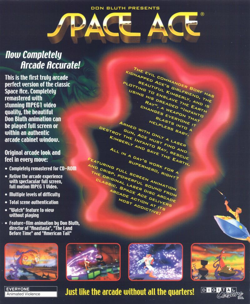 Space Ace Windows Back Cover