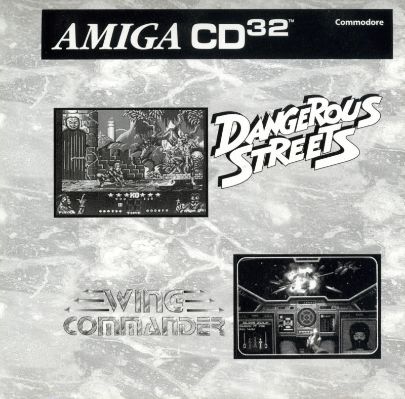 Dangerous Streets & Wing Commander Amiga CD32 Front Cover