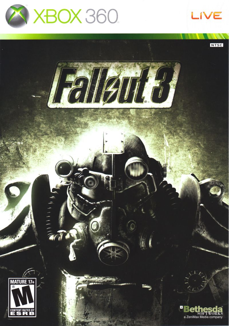 Fallout 3 Xbox 360 Front Cover