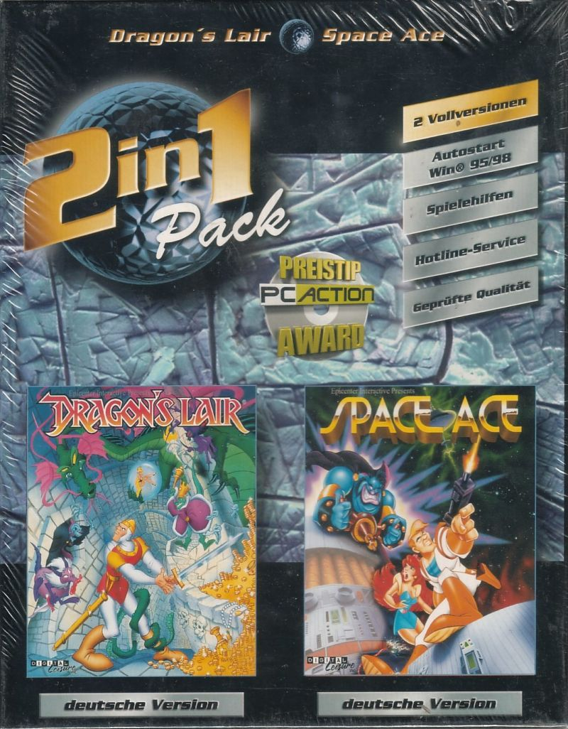 2in1 Pack: Dragon's Lair - Space Ace Windows Front Cover