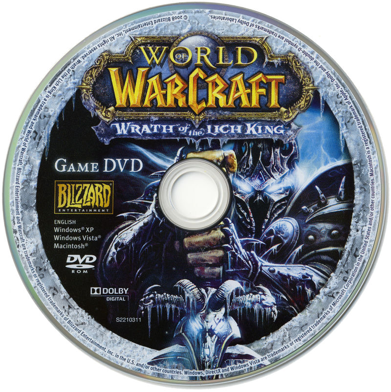 World of Warcraft: Wrath of the Lich King (Collector's Edition) Macintosh Media Game disc