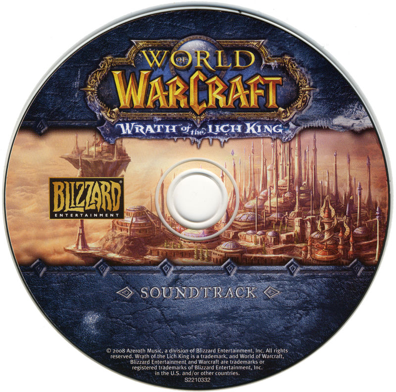 World of Warcraft: Wrath of the Lich King (Collector's Edition) Macintosh Media Soundtrack CD