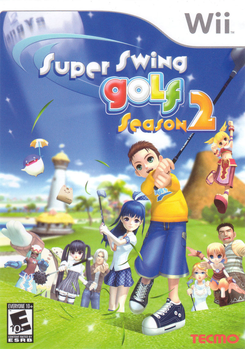 Super Swing Golf Season 2 Wii Front Cover