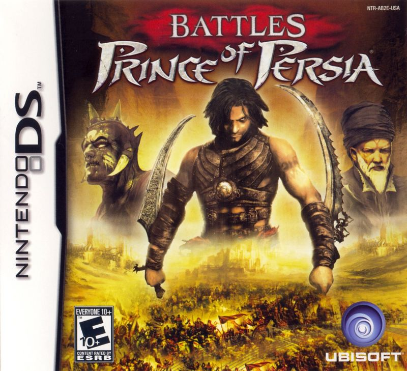 Battles of Prince of Persia Nintendo DS Front Cover