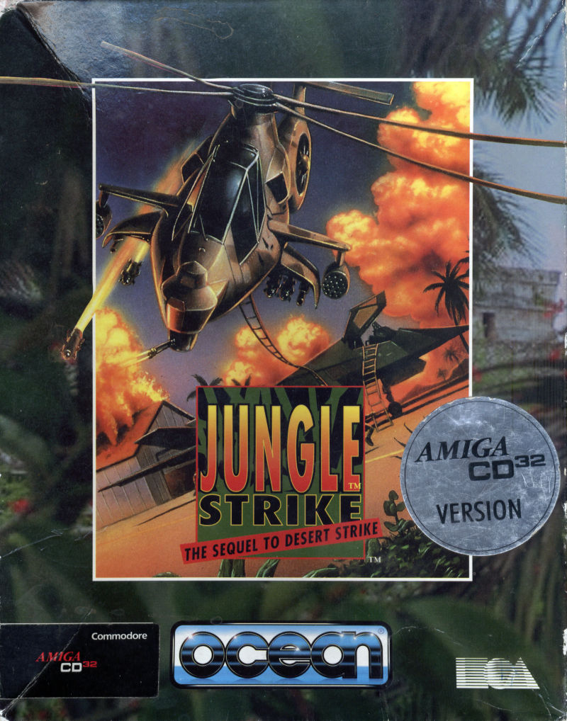 Jungle Strike Amiga CD32 Front Cover
