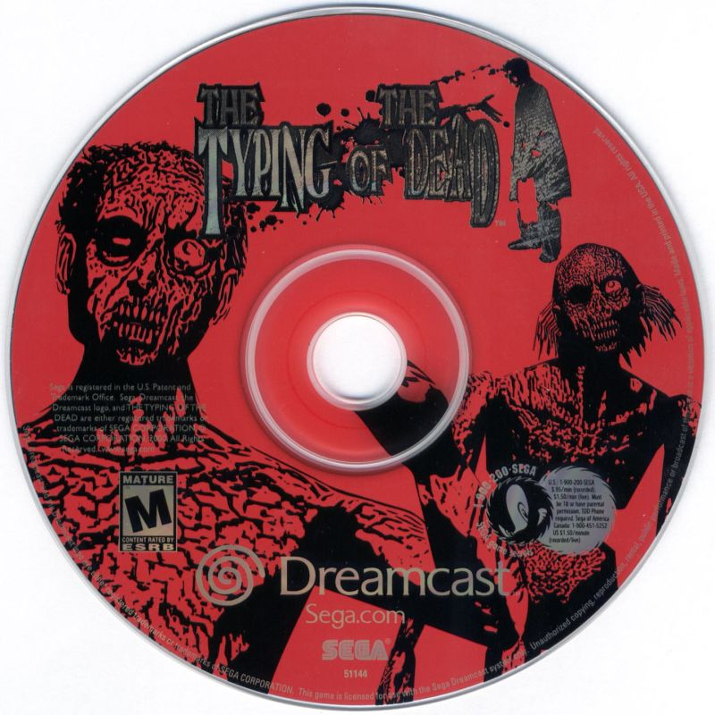 The Typing of the Dead Dreamcast Media