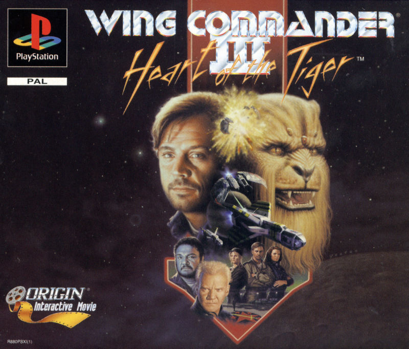 Wing Commander III: Heart of the Tiger PlayStation Front Cover
