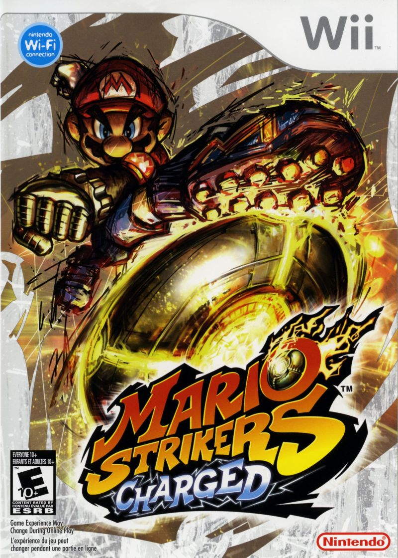 Mario Strikers Charged Wii Front Cover