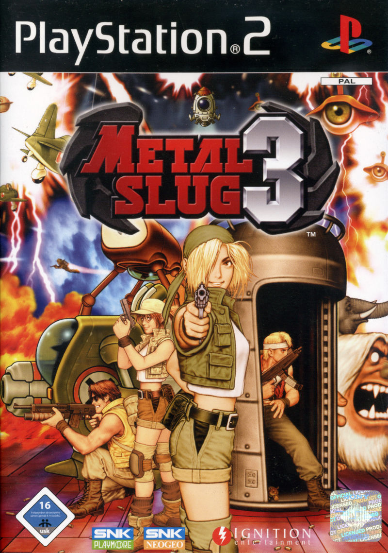 Metal Slug 3 PlayStation 2 Front Cover
