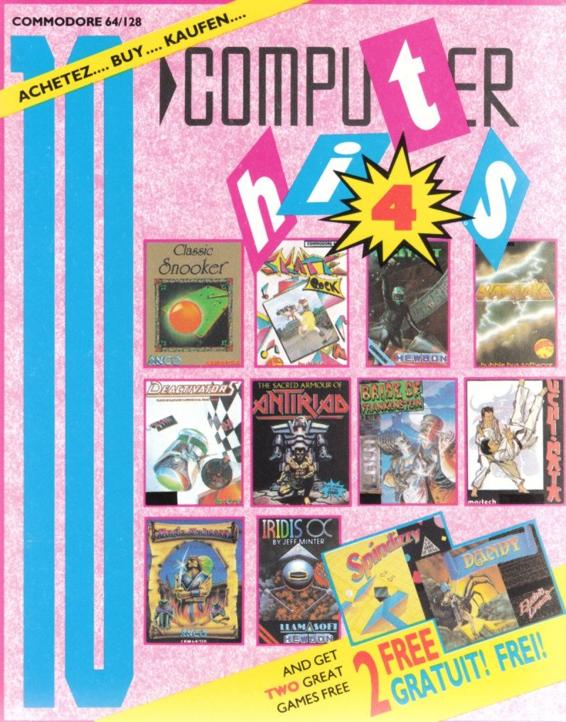 10 Computer Hits 4 Commodore 64 Front Cover