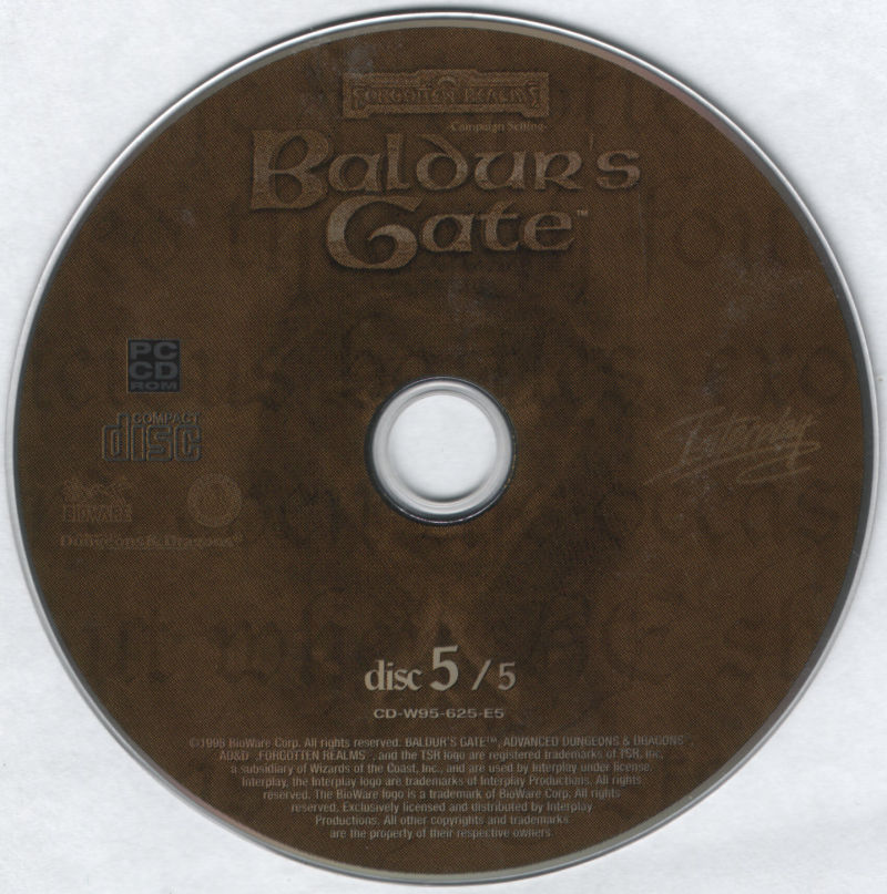 Baldur's Gate Windows Media Disc 5