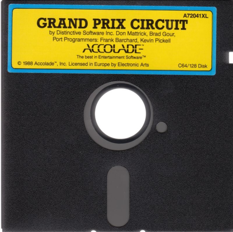 Grand Prix Circuit Commodore 64 Media