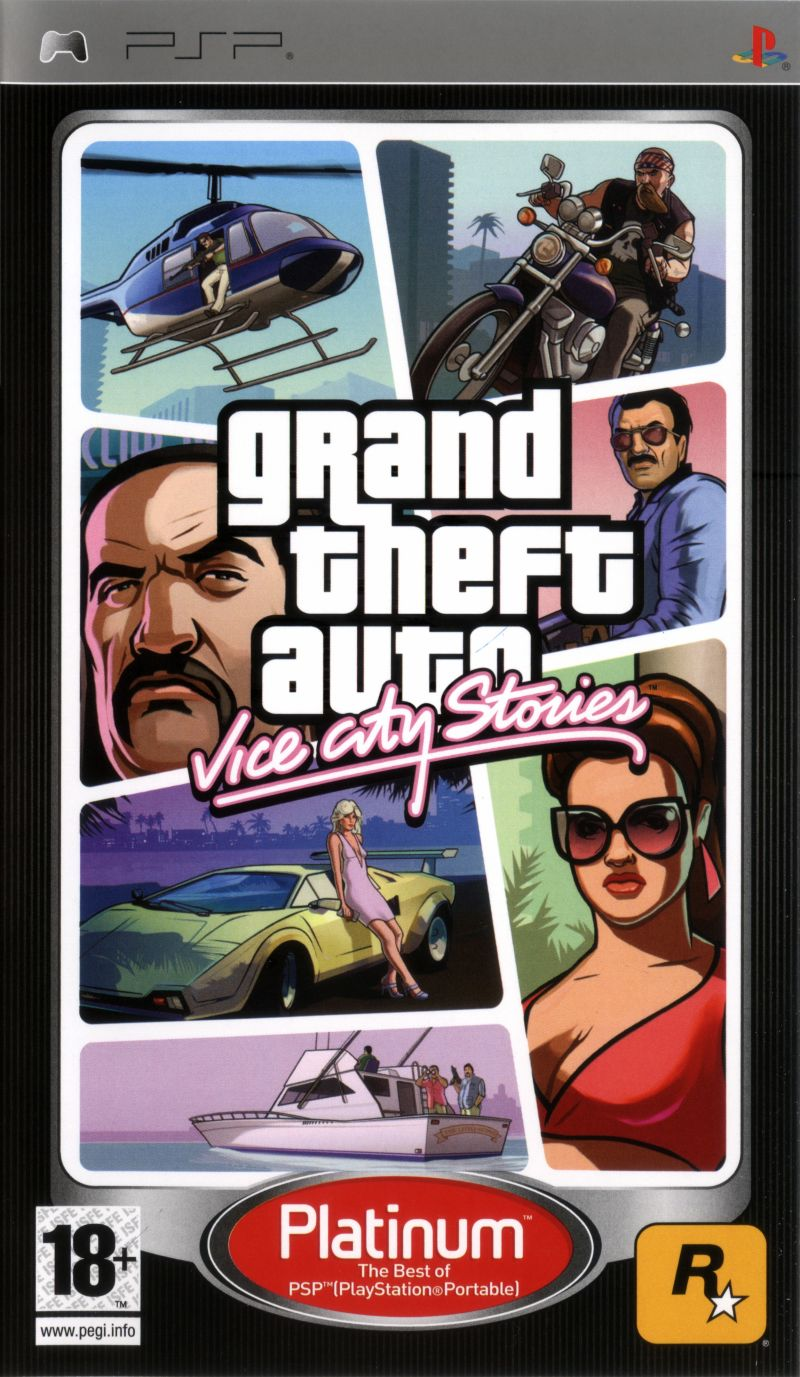 Grand Theft Auto: Vice City Stories PSP Front Cover