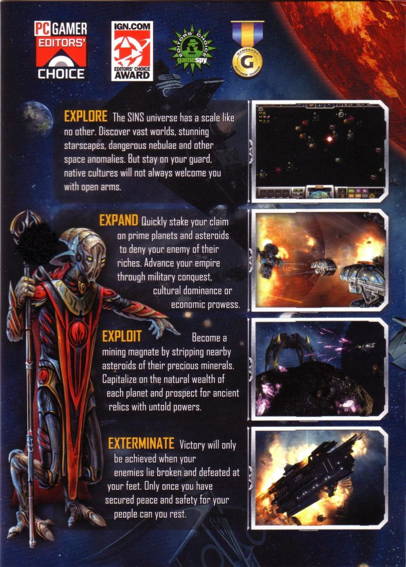 Sins of a Solar Empire Windows Inside Cover Left