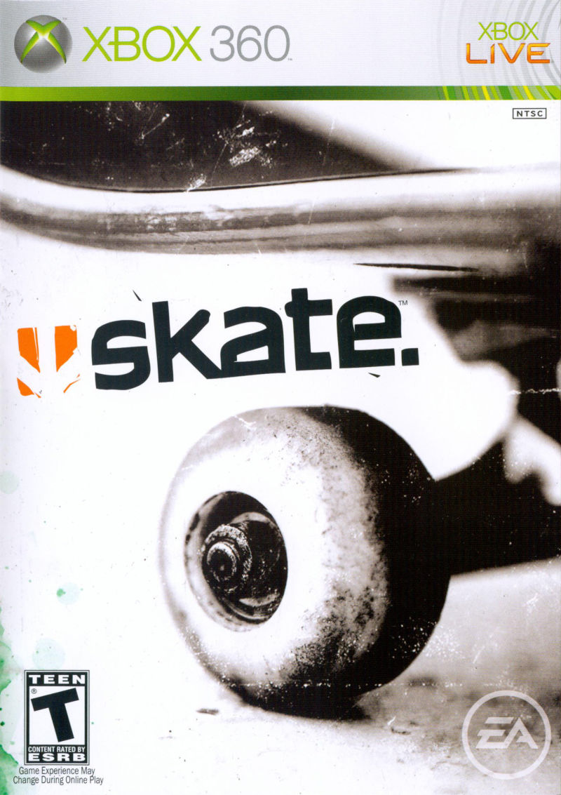 skate. Xbox 360 Front Cover