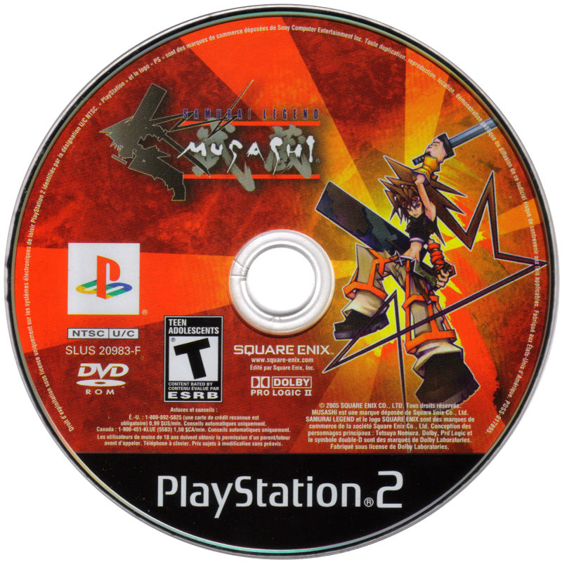 Samurai Legend Musashi PlayStation 2 Media