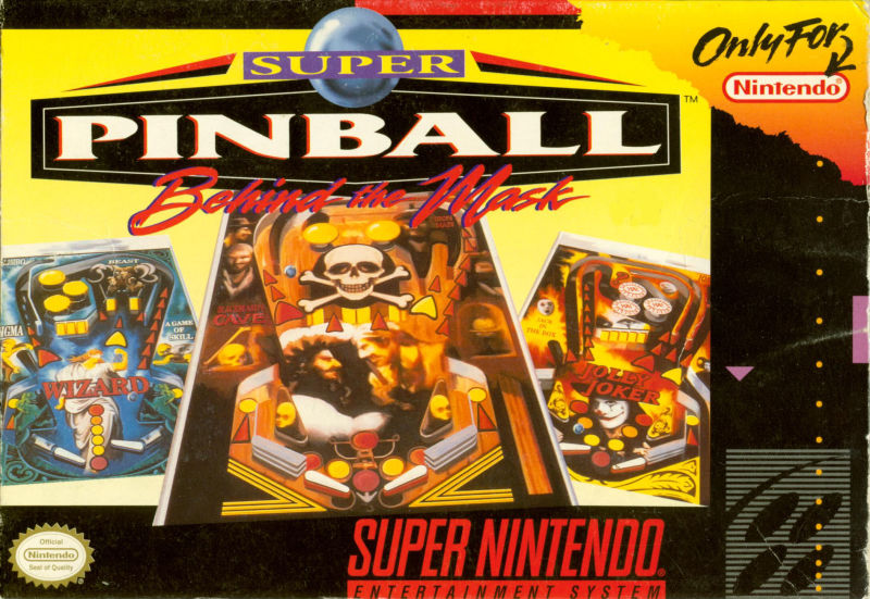 Super Pinball: Behind the Mask SNES Front Cover