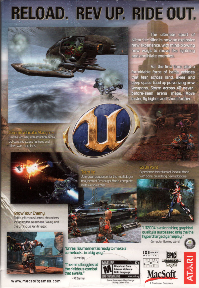 Unreal Tournament 2004 Macintosh Back Cover