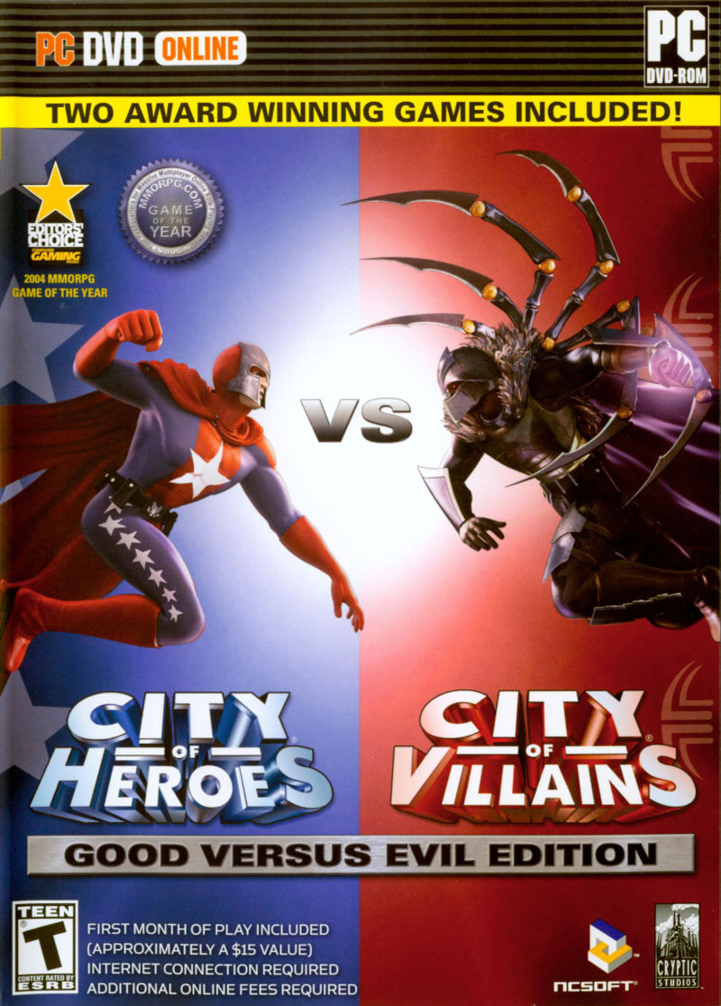 City of Heroes (Good Versus Evil Edition) Windows Front Cover