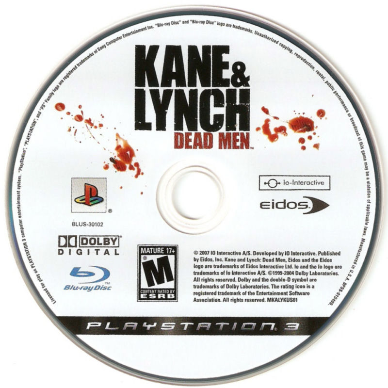 Kane & Lynch: Dead Men PlayStation 3 Media
