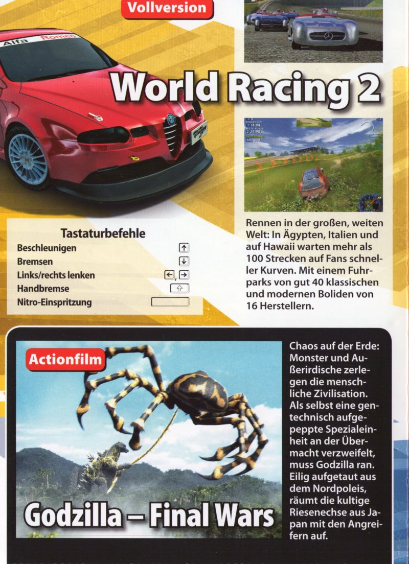 World Racing 2 Windows Back Cover