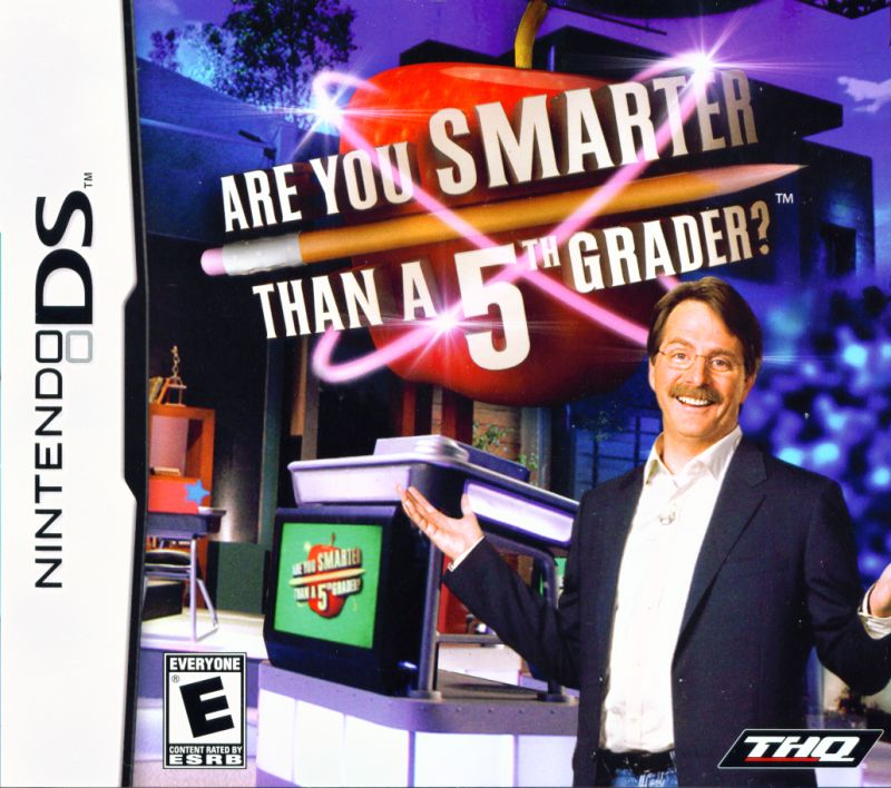 Are You Smarter Than a 5th Grader? Nintendo DS Front Cover
