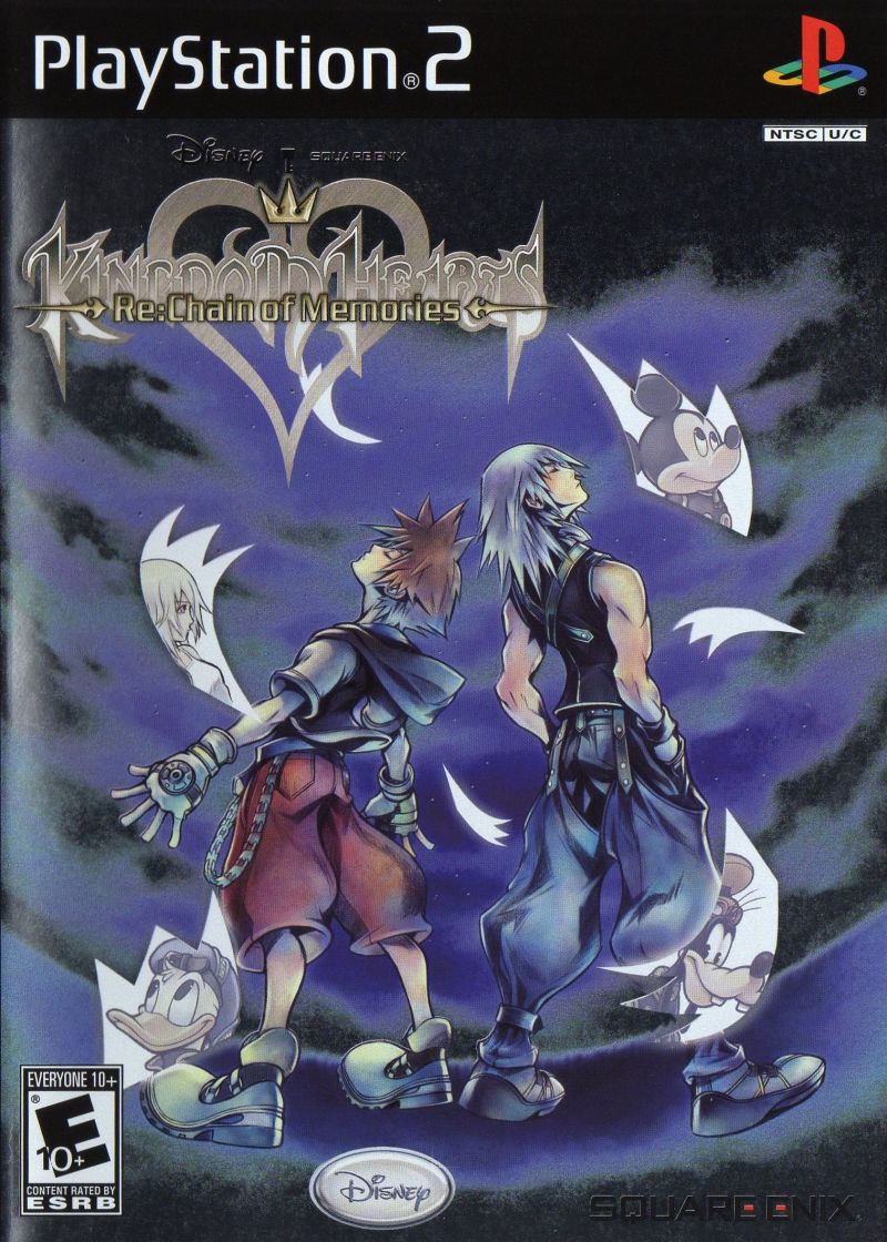 Kingdom Hearts: Re:Chain of Memories PlayStation 2 Front Cover