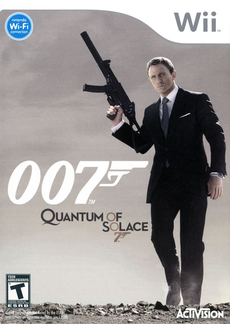 007: Quantum of Solace Wii Front Cover
