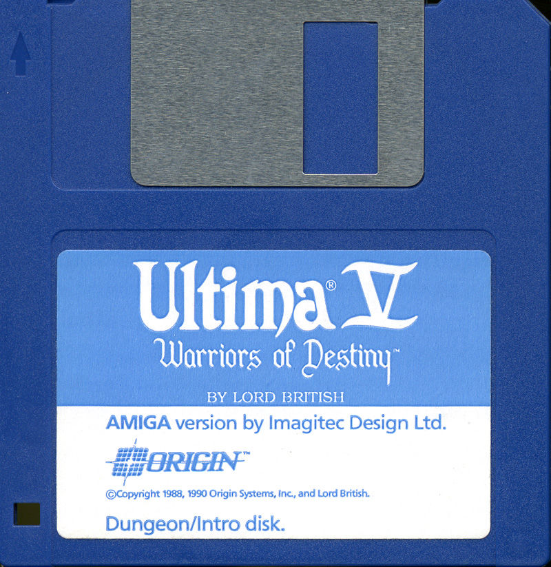 Ultima V: Warriors of Destiny Amiga Media Disk 1 - Dungeon/Intro disk