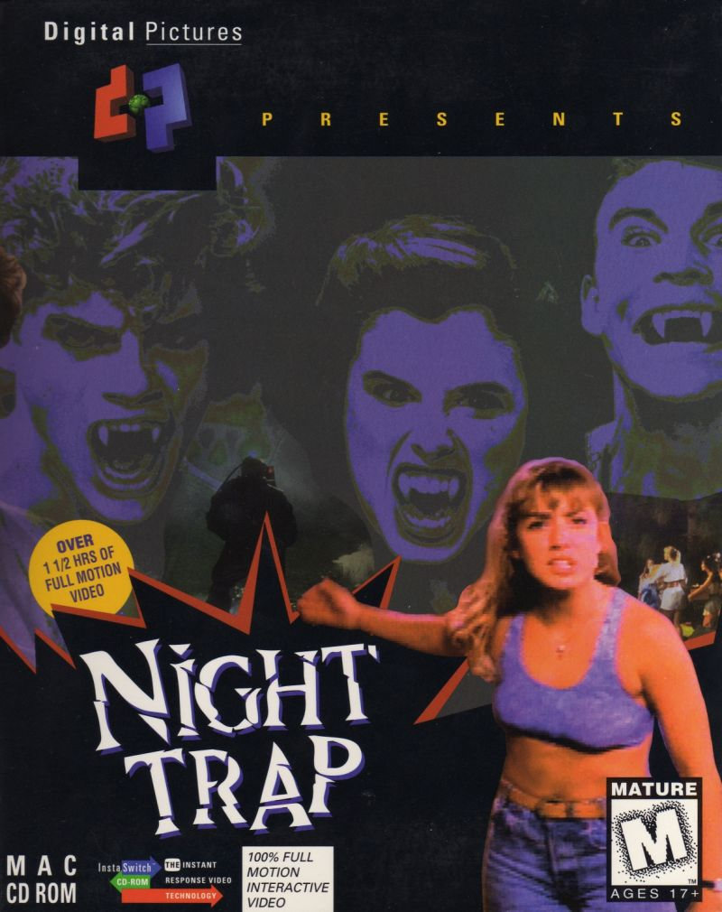 Night Trap Macintosh Front Cover