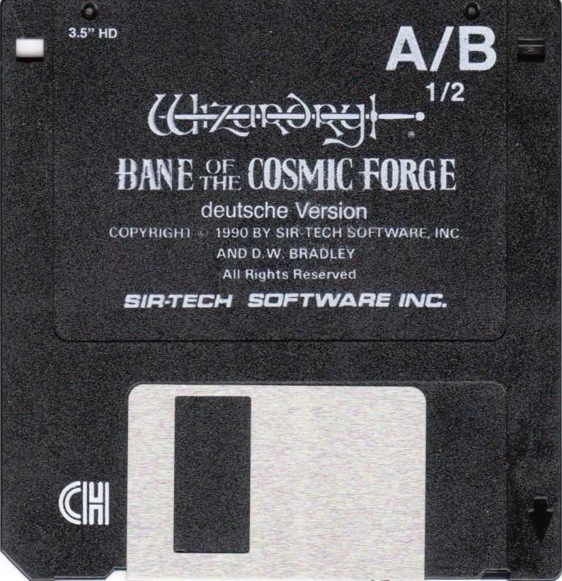 Wizardry: Bane of the Cosmic Forge DOS Media Disk 1/2